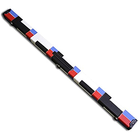 Handmade 3/4 Deluxe Patchwork Style Snooker Cue Case - Red, White, Blue and Black