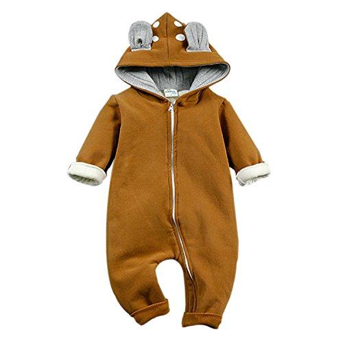 Bebone Baby Strampler Jungen Mädchen Overall Spielanzug Neugeborenen Kleidung (9-12 Monate, Khaki)
