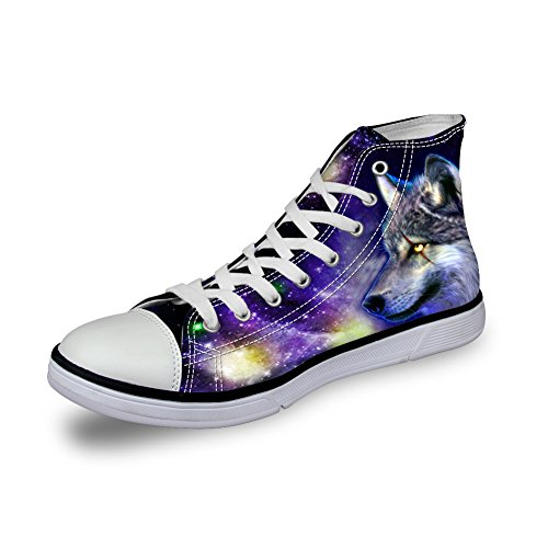 Coloranimal - Pantofole a Stivaletto donna Galaxy Wolf -1
