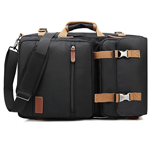 Cabrio-nylon-aktentasche (coolbell Cabrio Aktentasche Rucksack Messenger Bag Umhängetasche Laptop Case Business Aktentasche Reise Rucksack Multifunktions-Handtasche für 43,9cm Laptop für Männer/Frauen 17.3 Inches schwarz)