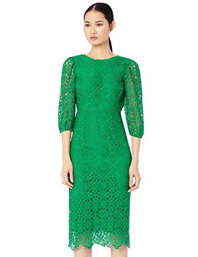 TRUTH & FABLE Vestido Mujer de Encaje, Verde (Green), 36 (Talla del Fabricante: X-Small)