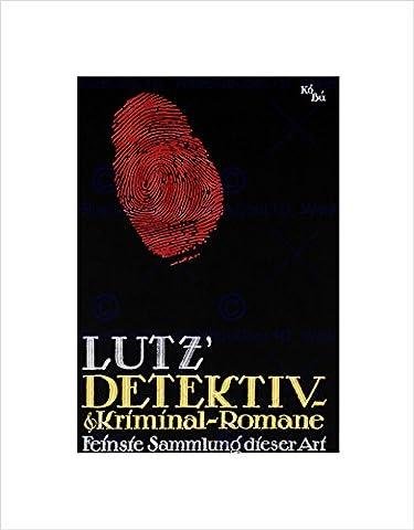 ART LUTZ CRIME NOVEL COLLECTION GERMANY VINTAGE ADVERT FRAMED PRINT B12X771