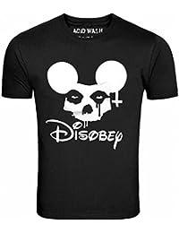 ACID WASH PRINT LTD Misfits Mickey Disobey Black T-Shirt