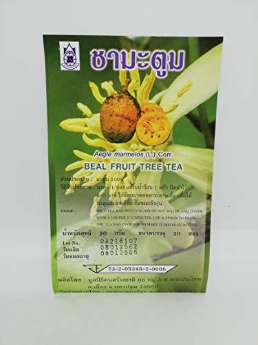 Bael Fruit (Aegle marmelos) Tea Bags x 20 - Traditional Thai Herbal Tea for Health