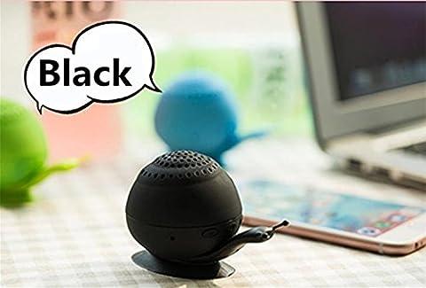 Mini son support Chickwin nouveau support de téléphone ventouse escargot mini haut-parleur portable Bluetooth Bluetooth créatif audio (Noir)