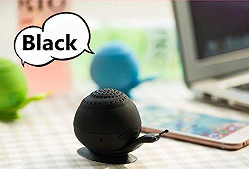 Mini-Sound steht Chickwin neue Schnecke Sauger Telefonhalter Tragbare Mini-Bluetooth-Lautsprecher Bluetooth-Audio-kreativ (Schwarz)