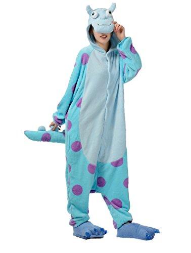 Honeystore Unisex Blau Kuh Party Pyjamas Siamesische Kleidung Tier Alltagskleidung Cosplay Outfit (Minute Halloween Last Coole Kostüme)