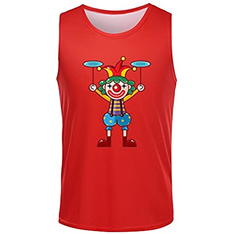 Party Colorful Clown Mens Casual Tank Tops - mke jeack