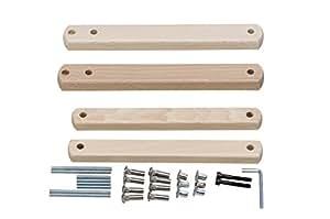 Geuther - Zusatzklemmen für Tür- und Treppenschutzgitter, natur
