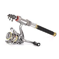 Lixada Telescopic Fishing Rod & Reel Combo Full Kit Spinning Fishing Reel Gear Organizer Pole Set