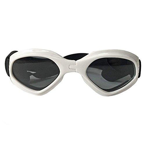 Suministros de mascotas Perro Gafas Ropa para los ojos Proteccion Impermeable Perro Gafas de sol Gafas de protección Para perros 4 colores (Blanco)