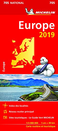 Carte Europe Michelin 2019 par  Michelin