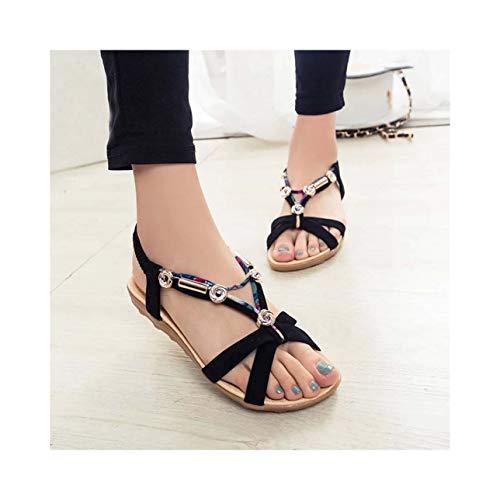 Shoes Woman Sandals Wedges Sandals Retro Boho Summer Peep-Toe Low Roman Ladies Flip Flops Sandalias Mujer 2019#g4 Beige 10 Patent Sling Strap Peep Toe