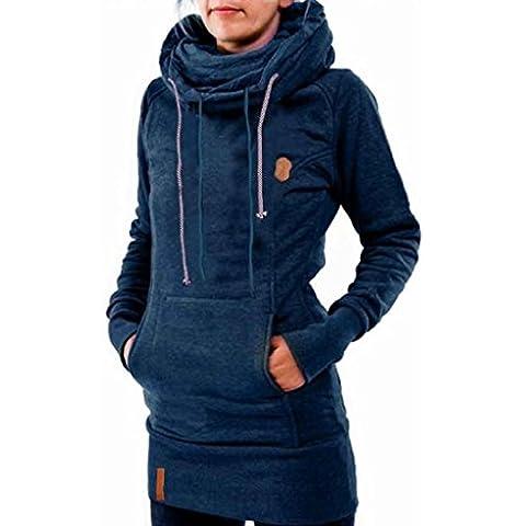 FEITONG Moda para Mujer Equipada La camisa de manga larga sudadera Tapas encapuchadas Algodón camisa