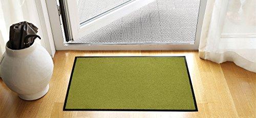 Premium Fußmatte in attraktiver Optik hell-grün, Schmutzfangmatte40 x 60 cm, Fußabtreter,...