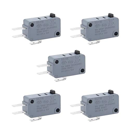 ZCHXD 5pcs G5T16-E1Z200 Micro Limit Switch Button SPDT Momentary Snap Action - Snap-action Switch