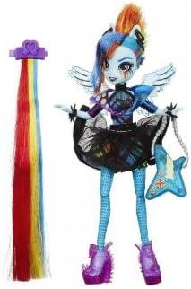 Mon Petit Poney My Little Little Little Pony Equestria Girls Rainbow Rocks - poupée Rainbow Dash Coiffure Rock   Pas Cher  9443af