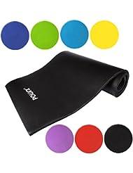 Powrx Gymnastikmatte Trainingsmatte Pilatesmatte Yogamatte Phthalatfrei 190 x 60 x 1.5 cm oder 190 x 100 x 1.5 cm in verschiedenen Farben