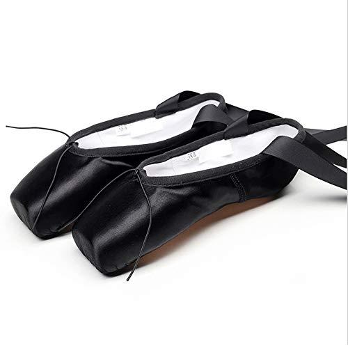 Mettime Zapatillas de Ballet de Punta Zapatos Satén/Lienzo con...