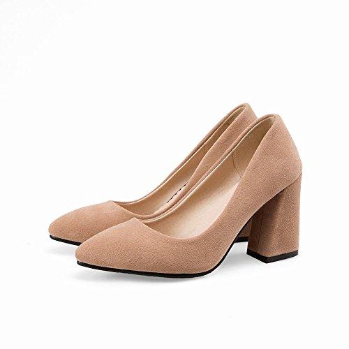 Mee Shoes Damen chunky heels Geschlossen Pumps Aprikose