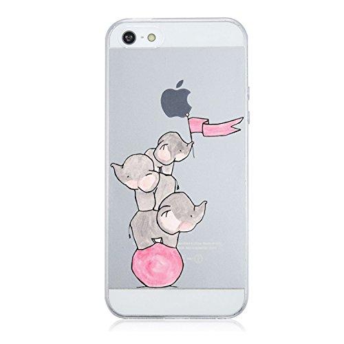 Caler iPhone SE iPhone 5S iPhone 5 Funda, Case Dibujos Diseño Creativo...