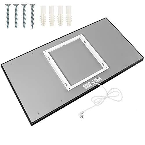 TecTake Spiegel Infrarotheizung Spiegelheizung ESG Glas Elektroheizung Infrarot Bild 3*