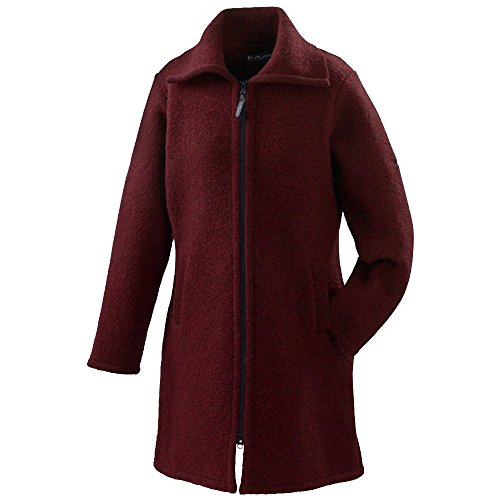 Mufflon® Damen Walk-Mantel Malu Schurwolle, Rosso, Gr. XL (46)