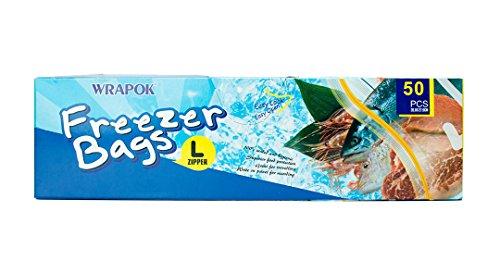 Gefrierschrank Lagerung Von Lebensmitteln (Freezer Bag Gefrierschrank Tasche Lebensmittel Lagerung Taschen Gallonen Reißverschluss Taschen BPA frei - 10,5 x 11 Zoll - 50 Stück)
