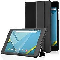 MoKo–Funda Google Nexus 9–Funda con tapa con soporte ultrafina y ligero para tablets Google Nexus 98.9Volantis Flounder Android 5.0Lollipop par HTC, Negro
