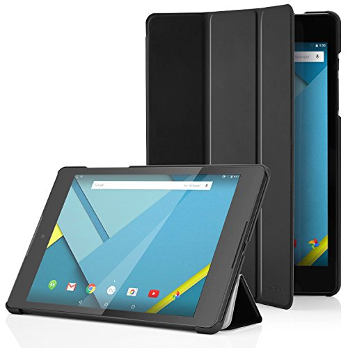Google Nexus 9 Hülle Case - MoKo Ultra Slim PU Leder Tasche Schutzhülle Lederhülle Folio Smart Cover mit Auto Wake/Sleep Funktion für Google Nexus 9 8.9 Zoll Android 5.0 Tablet-PC von HTC T1,SCHWARZ