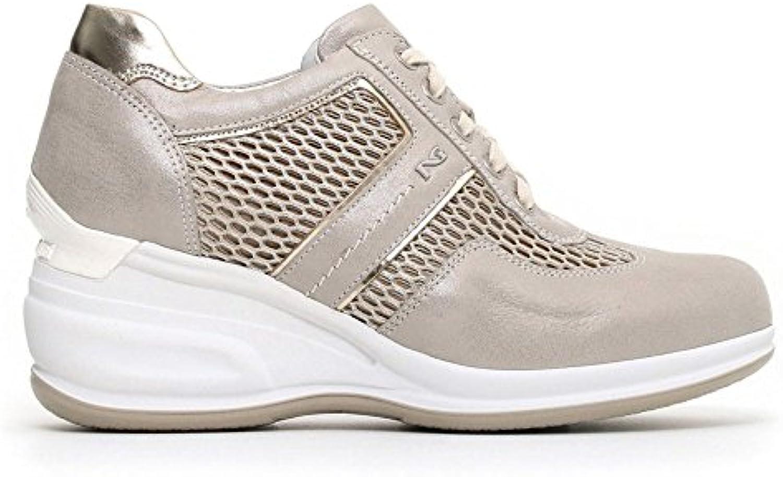 Nero Giardini scarpe da ginnastica Alta Donna Pelle Grigia | Alta Qualità  | Maschio/Ragazze Scarpa