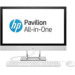 HP Pavilion 24-r052ng 60,45 cm (23,8 Zoll Full HD-IPS) All-in-One Desktop PC (Intel Core i3-7100T, 8GB RAM, 1TB HDD, Windows 10 Home 64) weiß