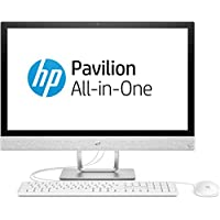 HP Pavilion 24-r062ng 60,45 cm (23,8 Zoll Full HD-IPS) All-in-One Desktop PC (Intel Core i5-7400T, 8GB RAM, 512GB SSD, Windows 10 Home 64) weiß
