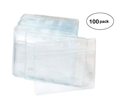 Ausweishalter, Kunststoff, horizontal, transparent, 100 Stück