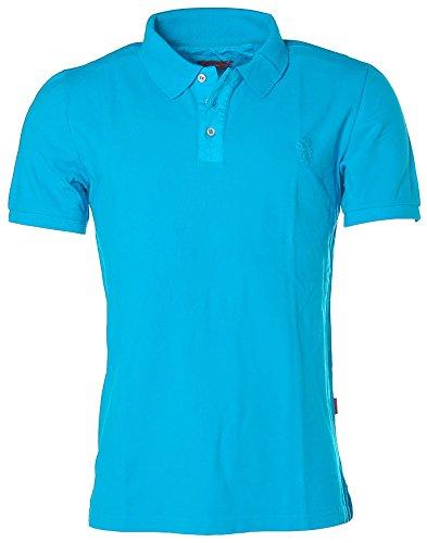 Signum Herren Kurzarm Shirt Poloshirt Polokragen Pikee Malibu Blue