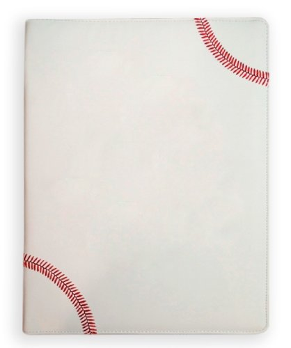 textured-baseball-portfolio-with-authentic-red-stitching-includes-notepad-pen-card-holder-by-zumer-s