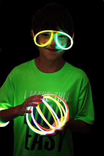 Imagen de joyin 200 pulseras luminosas fluorescentes 456pcs barras luminosas collares gorra gafas pendientes pulseras glow palo de luz partido 7 colores tubos fluorescentes alternativa