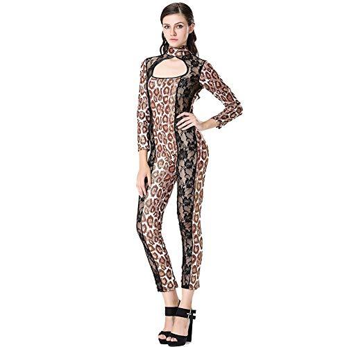 Nachtclub Fun Leopard Cat Girl Contrat Pole Dance Stage Kostüme Imitation Leder Sexy Uniform,83021