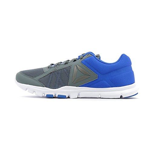 Reebok Yourflex Train 9.0 Mt, Chaussures de Fitness Homme Gris (Alloy/Rose Virtual Blue/White)