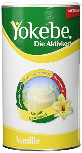 Yokebe Vanille Diätshake zum Abnehmen, Mahlzeitersatz mit hochwertigen Proteinen, 10 Portionen, 500 g (8 Stück Frühstück)