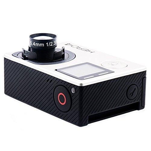 Cvivid Lens Sport Kamera GoPro Hero 4 Black Modifiziert mit 5.4mm 60 Grad HFOV 10MP NDVI Objektiv - Es ist großartig für die Landwirtschaft, wenn es auf Drohnen installiert wird (Mp 2.5 10)