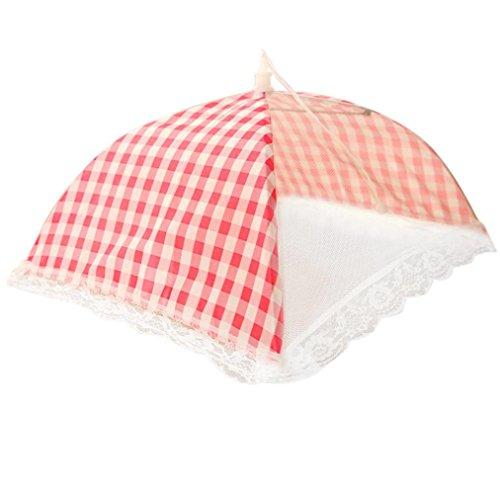 SUJING Pop-up-Netzgewebe für Lebensmittel, Zelt, Regenschirm, Picknick, Essensabdeckung, Netz rose