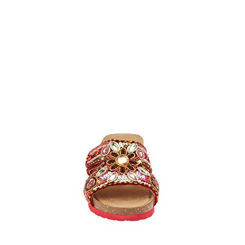 White Mountain Blinker Large Cuir Talons Compensés Red Multi
