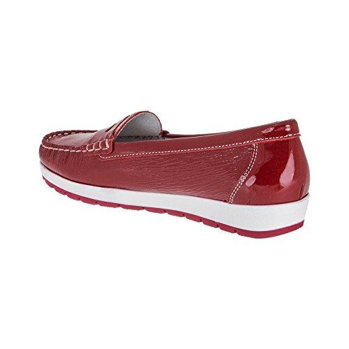 Imac Medina, Mocassins (loafers) femme Rouge