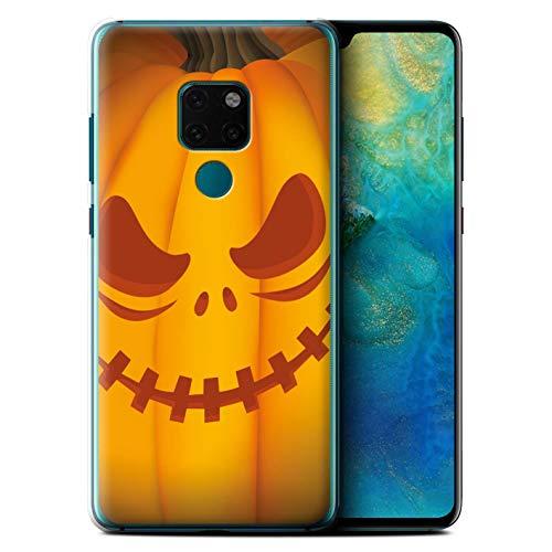 (eSwish Hülle/Case für Huawei Mate 20 / Unheimlich Muster/Halloween Kürbis Kollektion)