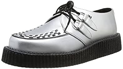 TUK Lo Sole Creeper, Baskets mode mixte adulte - Argent (Silver Leather/Black Interlace), 44 EU