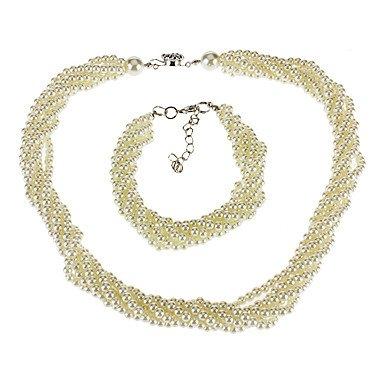 6 strato di collana abiti braccialetto di perle