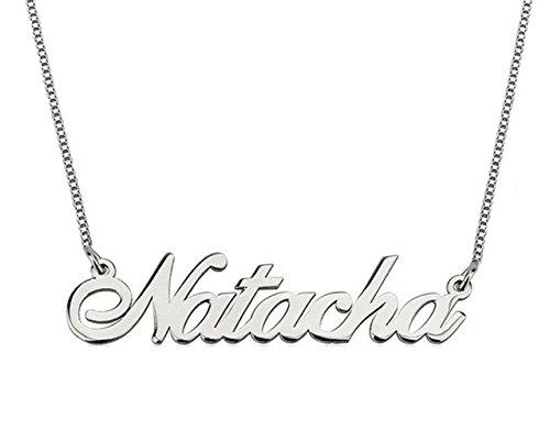 Hacool 925 Sterling Silver personalizzati nome collana fatta con qualsiasi nome 16