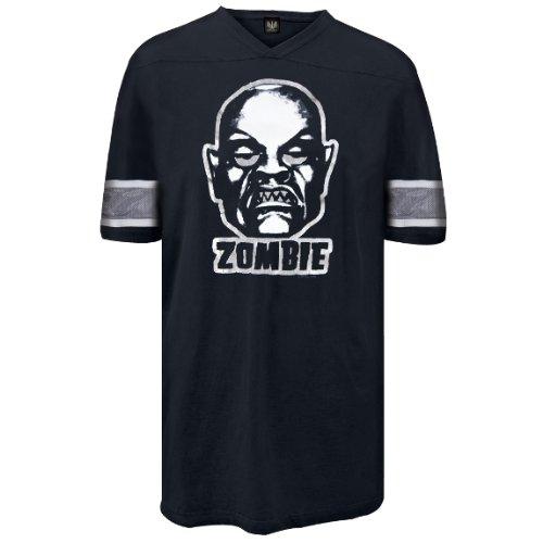 Old Glory Herren Rob zombie- Roboter Kopf Fußball Jersey Größe L schwarz (Tie Dye Junior Größe)