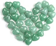مجموعة أحجار كريمة صغيرة منتفخة على شكل قلب كريستال طبيعي من MANIFO